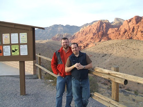 My partner and I at Red Rock Canyon near Las Vegas