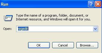 Open Regedit in Microsoft Windows