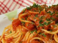 超簡単トマトソーススパゲティ