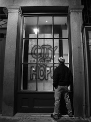 """""""City of Hope"""" (Culture:Subculture) Tags: camera blackandwhite usa love window architecture photography hope la community education peace grafitti neworleans fineart documentary hurricanekatrina solidarity frenchquarter forsaken plywood sociology participation craigmorse culturesubculture culturesubcultureyahoocom wwwculturesubculturecom affectedcommunities theindeliblespirit healingheal manifestationmanifest 2006craigmorse messageswarningspleas hopeandhealing musiciansperformersartists authenticityauthentic creationcreate sustainablesustain craigtracy paintedalive drjohnpreliminary"""