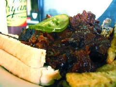 Arthur Bryant's: Burnt Ends Sandwich