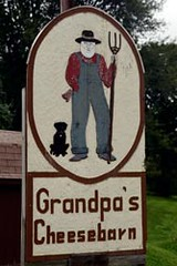 Grandpa's Cheesebarn Sign