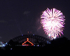 The Coathanger with fireworks