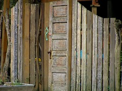 Gated fence of the recycled (jelee_unleashed) Tags: wood texture fence recycle recycledwood