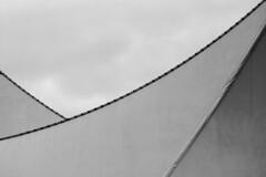 sails: detail ( marc_l'esperance) Tags: sky blackandwhite bw abstract detail geometric lines architecture vancouver canon eos grey raw geometry abstractart curves  overcast 2006 minimal architectural line 10d abstraction curve curved nocrop uncropped canadaplace minimalist allrightsreserved gradients cml gvrd shading canonef70200mmf28lusm ef70200mmf28l canon70200f28l 123bw minimalpostproduction aplusphoto