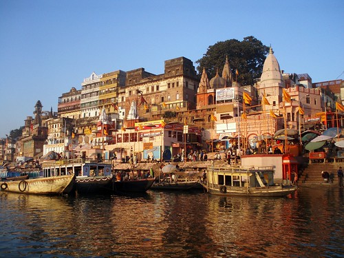 Varanasi ghat, with the morning light