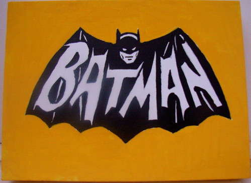 Batman TV Logo Painting