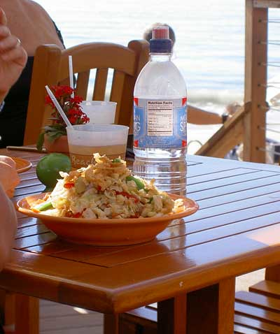 Salad at the beach