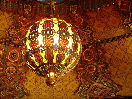 Art Glass Chandelier at Fox Theatre, Detroit, MI