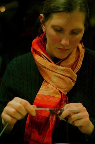 January 11, 2007 - Sarah, the knitter.