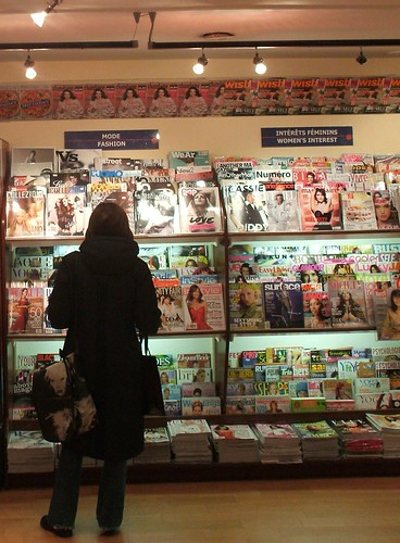 Coll at the Magazine Stands