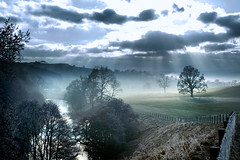 Cold Morning III (tommy martin) Tags: uk winter mist tree river lakedistrict cumbria sunbeam askham lowther abigfave