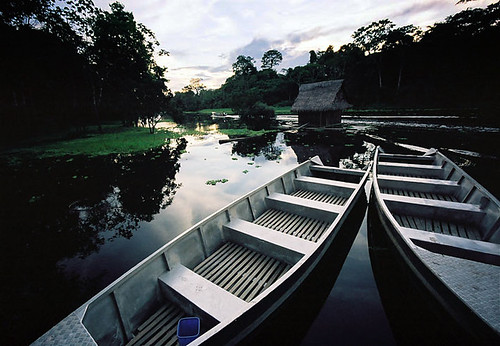 Boats in the Peruvian Amazon
