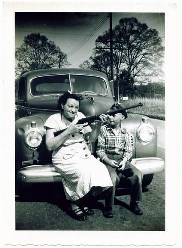 granny with gun