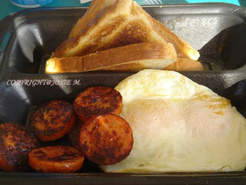 Portugese Sauage with Egg w/ Toast