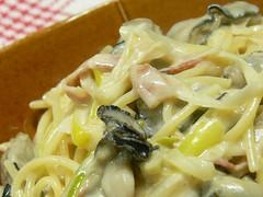 牡蠣のクリームスパゲティ
