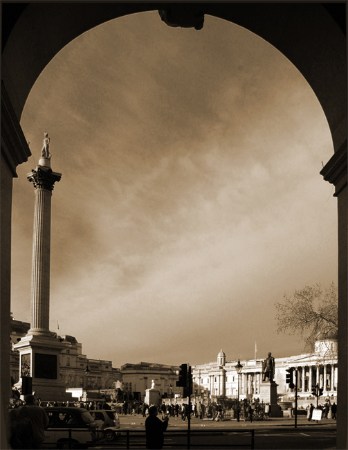 Trafalgar Square: Click for previous photo