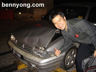Song Yia's Damaged Car