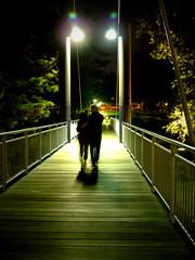 Romance on a bridge