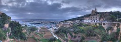 Mgarr Valley and Port (Frank's Flicks) Tags: panorama ferry port island malta valley hdr gozo mgarr s6000s6500fd