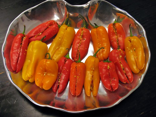 Stuffed Mini Sweet Peppers . . . mmmm!