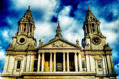 St Paul's (Simon Crubellier) Tags: uk england london church clouds canon eos europe cathedral stpauls stpaulscathedral saintpaulscathedral eos20d cityoflondon saintpauls simoncrubellier interestingness483 i500