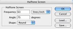 Halftone Dialog Box