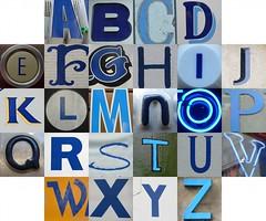 Blue letters
