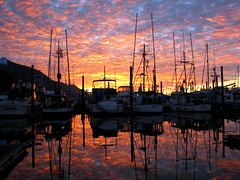 Bar Harbor sunrise (glacierman) Tags: alaska sunrise boats harbor ketchikan abw 1on1photooftheday colorphotoaward isawyoufirst 1on1maritime 1on1maritimephotoofthedayfeb2007