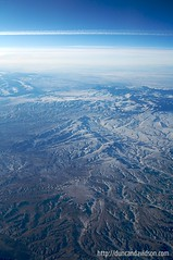 Aerial Snow Covered Desert