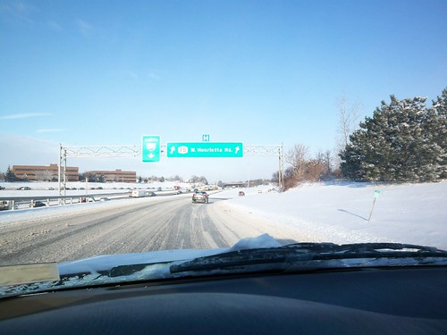 Winter's Drive: Off of 390, heading towards West Henrietta