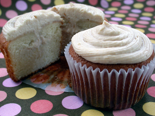 Almond Cupcakes w. Guava Cream-Cheese Filling by Mrs. Jenny Ryan.