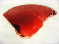 a slice of tuna (randomidea) Tags: japan tokyo tsukiji tuna fishmarket