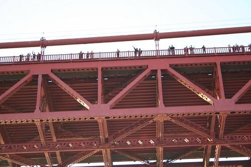 Golden Gate Bridge well wishers