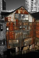 old building (Robert van Dyk) Tags: new old canada building robert westminster canon rebel rust bc rusty van dyk xti 400d travelerphotos
