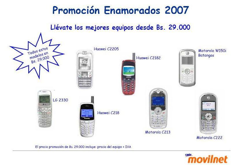 Equipos Celulares Disponibles En Movilnet