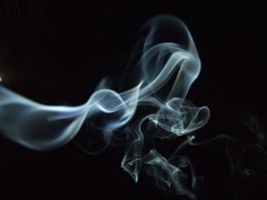 Incense smoke against a black sky (Vanessa Pike-Russell) Tags: black night bestof background smoke flash experiment mostinteresting faves swirls portfolio popular technique incense 2007 fujifinepix myfaves s5600 featuredhome