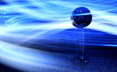 Time Vortex (Michael Rugosi) Tags: blue vortex clock dark lights moving spring fast shock streaks shiningblue