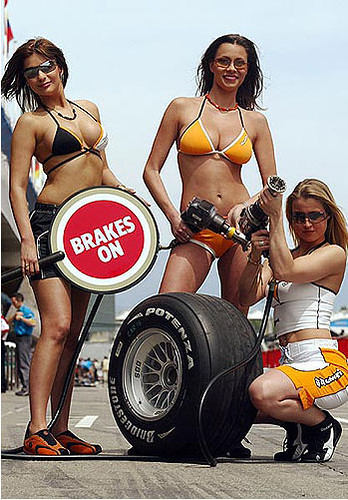 Think, that sexy pit crew sorry