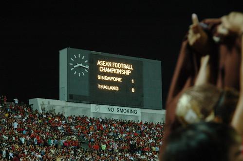 18 Scoreboard reads 1-0