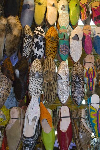 Shoes on a souk stall