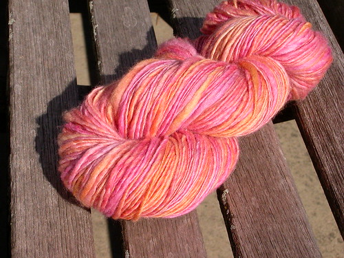 "Handspun BFL from Sweet Georgia, ""Afterglow"""