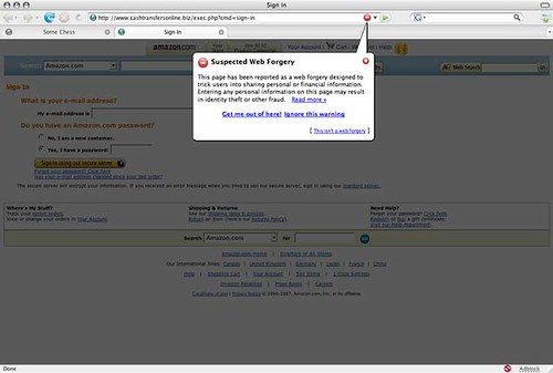 phishing site warning in firefox