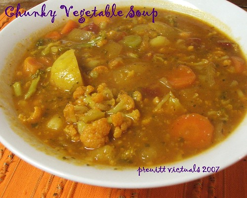 easy recipe chunky vegetable soup
