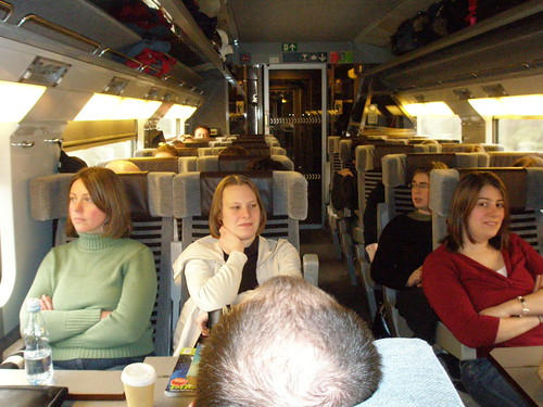 On the way to Brussels on the Eurostar