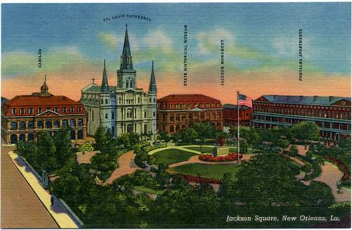 Postcard: NOLA. Jackson Square