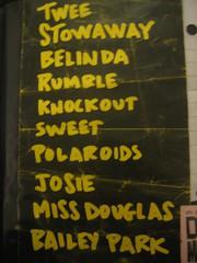 Tullycraft setlist