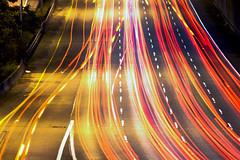 I-5 (bentilden) Tags: seattle usa cars night lights highway i5 pentax freeway interstate streaks washingtonstate istdl