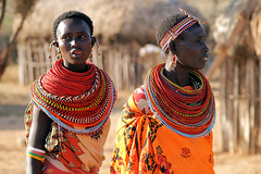 Samburu women (imanh) Tags: africa portrait people woman color colors women village kenya afrika portret samburu kenia dorp stam kleurrijk iman kleuren heijboer imanh