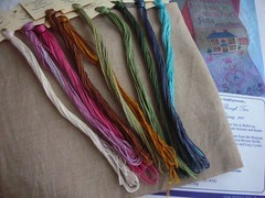 "Crescent Colours threads for ""At Home with Jane Austin."""